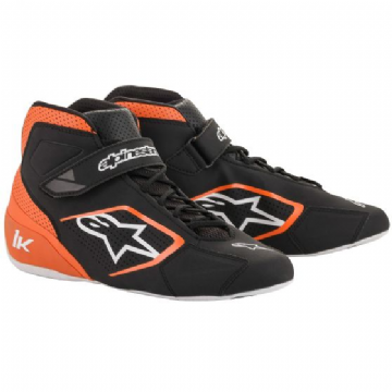 TECH 1K KART BOOTS ORANGE/BLACK